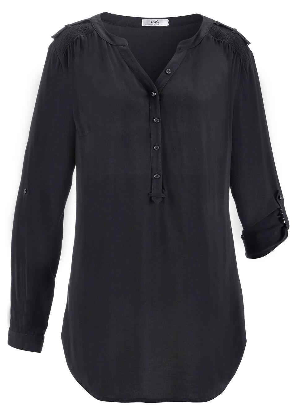 Bluză tunică cu mâneci lungi bonprix