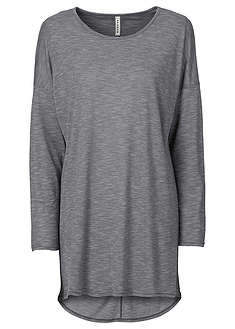 Długi shirt melanżowy szaro-kolorowy Z