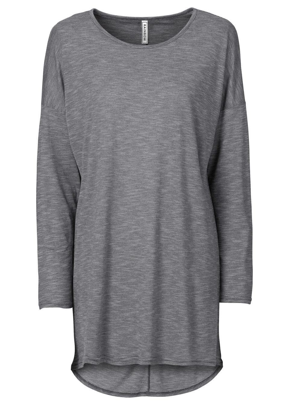 Фото - Лонгслив из меланжевой ткани от bonprix цвет серый многоцветный