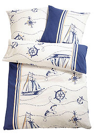 "Lenjerie de pat ""Schiff"" albastru bpc living bonprix collection 0"