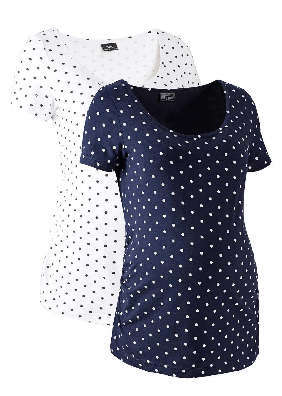 Для будущих мам из органического хлопка: футболка с рукавом 1/2 (2 шт.)