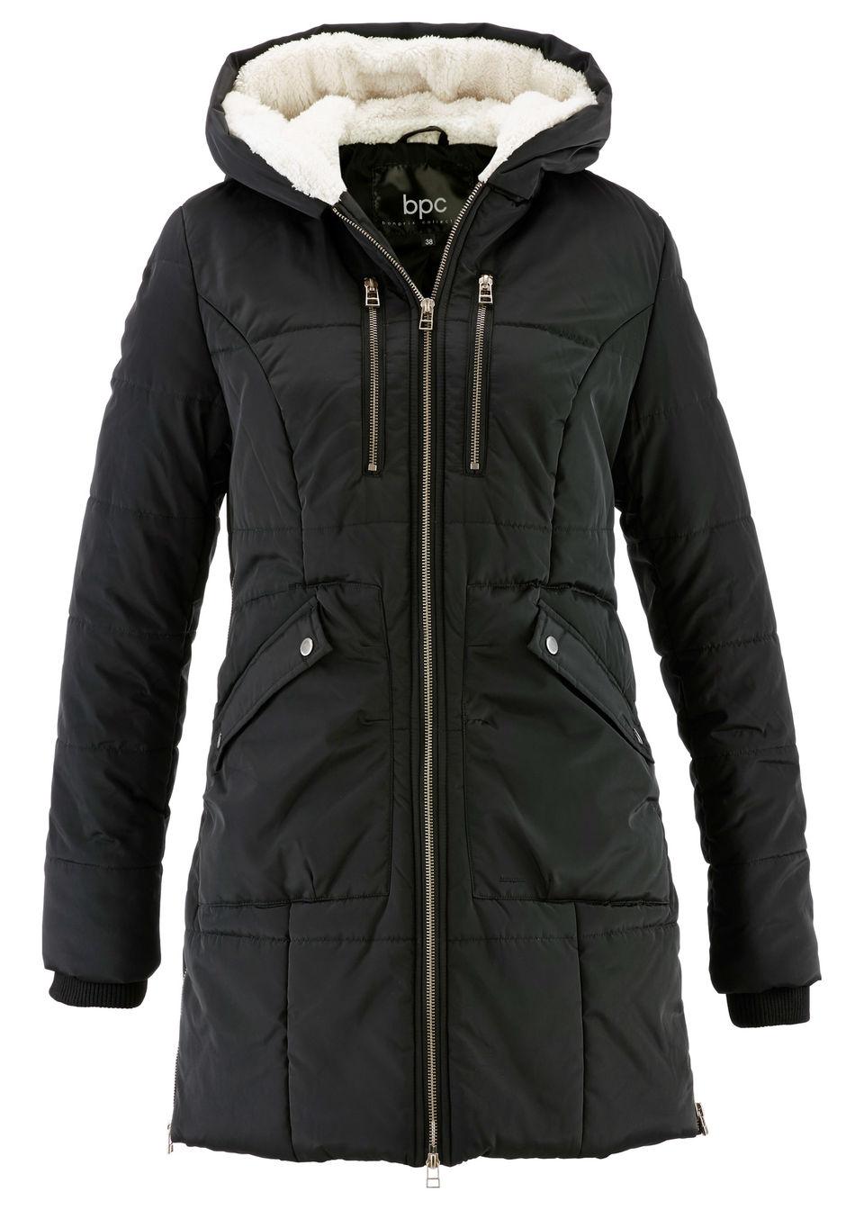 Jachetă cu glugă căptușită bonprix