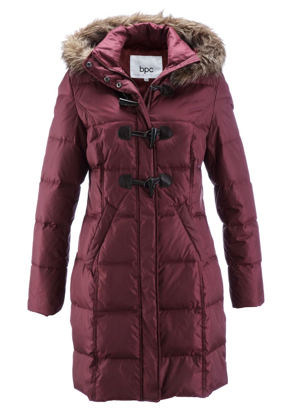 Płaszcz pikowany (lekki puch) bonprix Płaszcz pikowany czer.klon