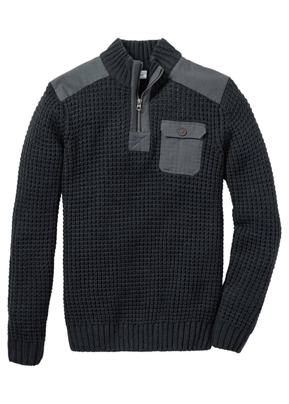Пуловер Regular Fit с воротником-стойкой от bonprix