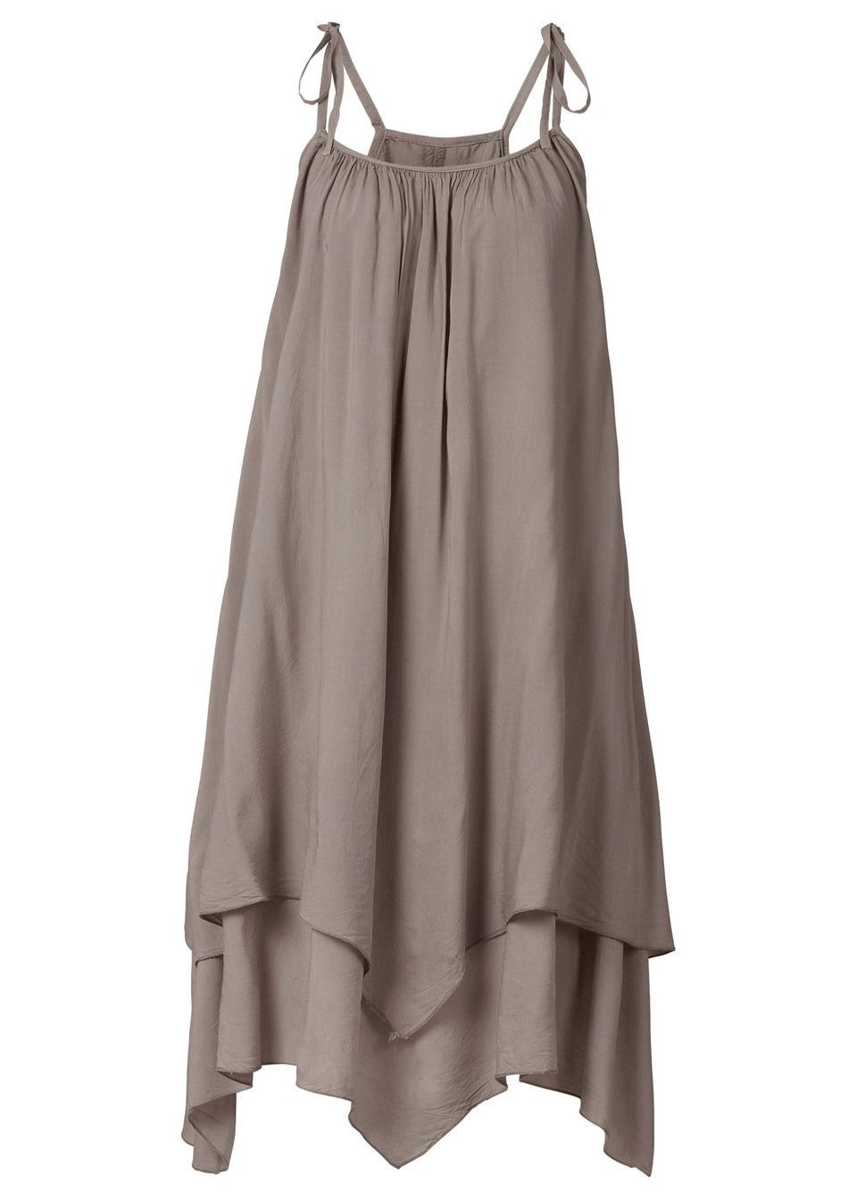 Купить Платья, Платье с асимметричным низом, bonprix, темный серо-коричневый
