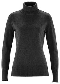 Sweter z golfem antracytowy melanż bpc bonprix collection 0