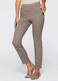 Pantaloni stretch 7/8 gri-bej bpc selection 1