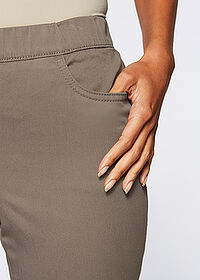 Pantaloni stretch 7/8 gri-bej bpc selection 4
