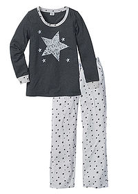 Pijama antracit melanj bpc bonprix collection 0