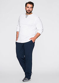 Pantaloni de jogging albastru închis bpc bonprix collection 3