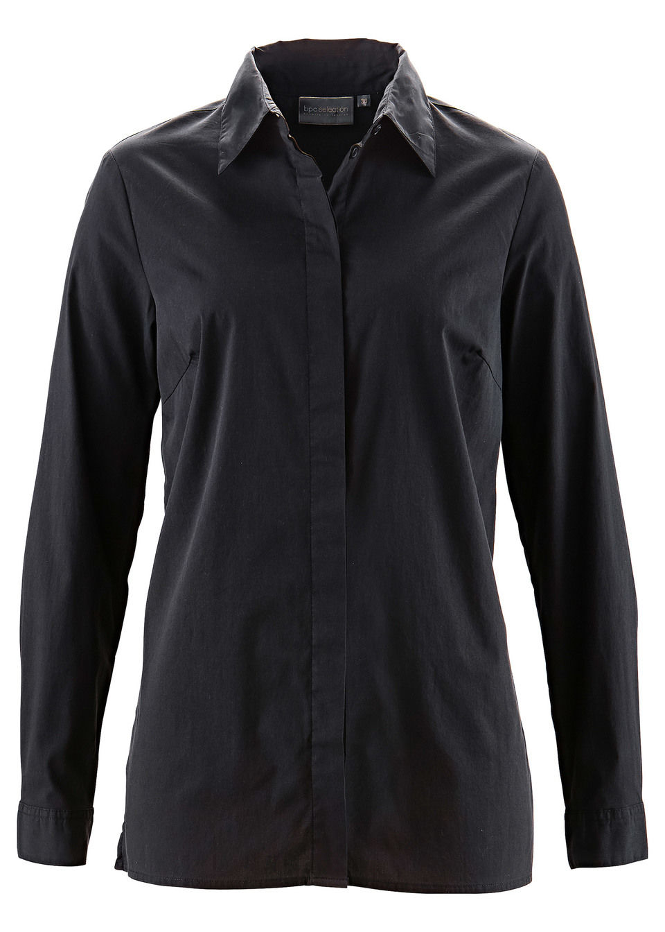 Удлиненная блузка-стретч
