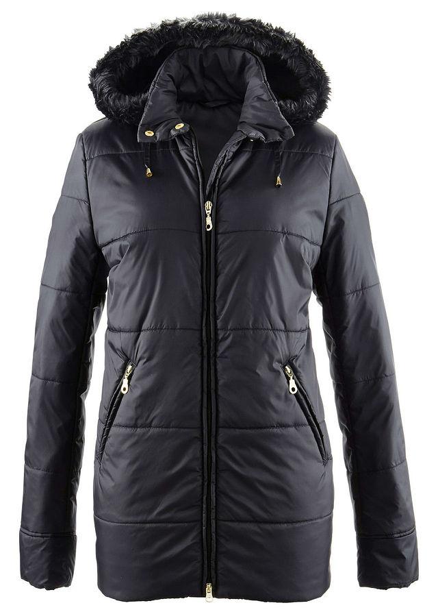 68788196c Prešívaná bunda s umelou kožušinkou čierna • 29.99 € • bonprix