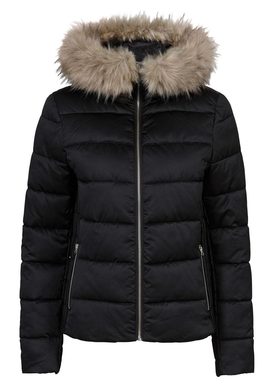 Jachetă matlasată cu glugă bonprix
