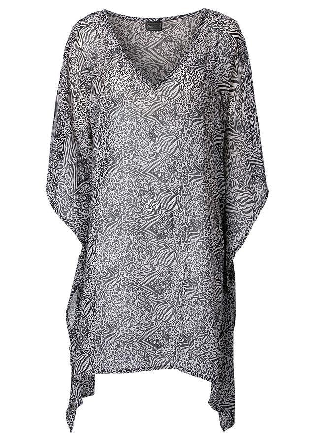 12ae5321e7 Plážové šaty čierna svetlosivá vzorovaná • 14.99 € • bonprix