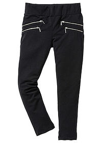 Pantaloni fete stretch negru bpc bonprix collection 0