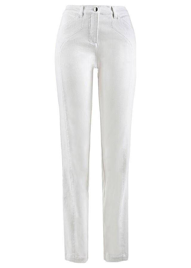e264f2750de4 Pohodlné strečové nohavice biela • 21.99 € • bonprix