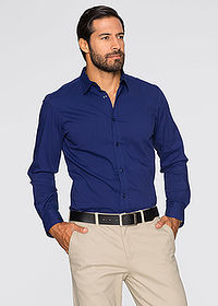 Cămașă stretch, Slim Fit bleumarin bpc selection 1