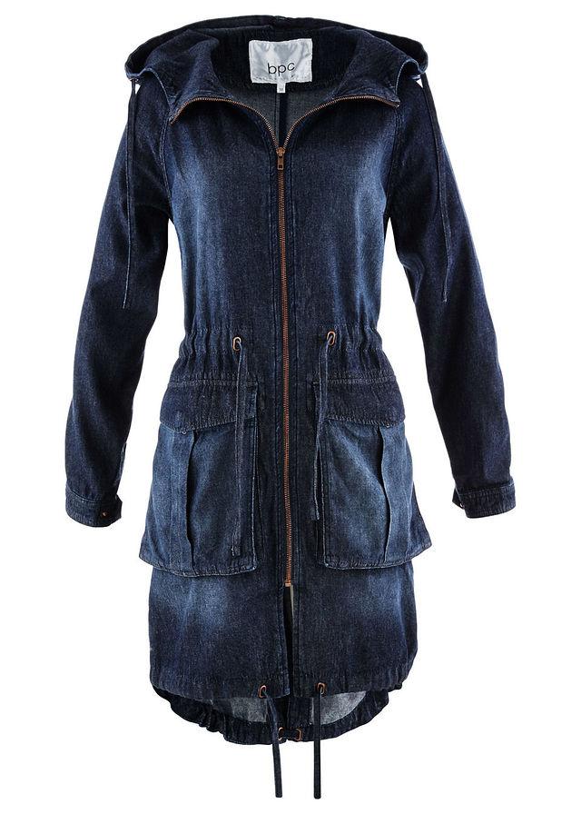 Farmer parka kabát sötétkék kőmosott eeaaf4e3b4