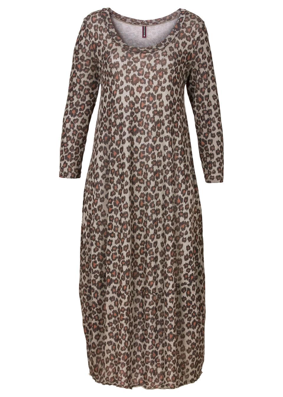Sukienka shirtowa bonprix brązowy - leo