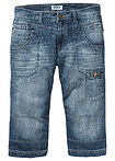 Regular Fit 3/4-es farmer Straight középkék koptatott John Baner JEANSWEAR 3
