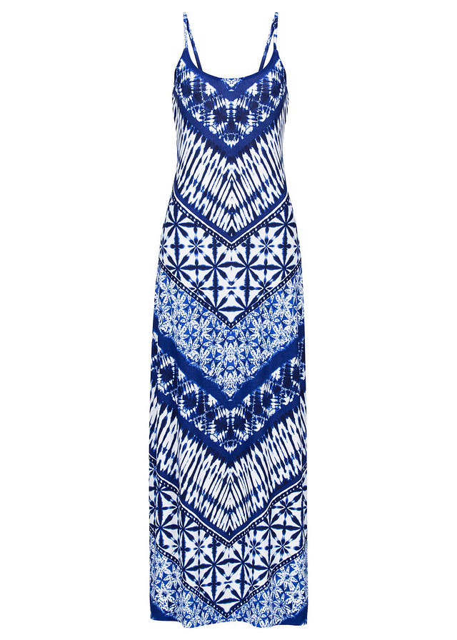 8d28ebb01d Długa sukienka z nadrukiem niebiesko-kolorowy • 109.99 zł • bonprix