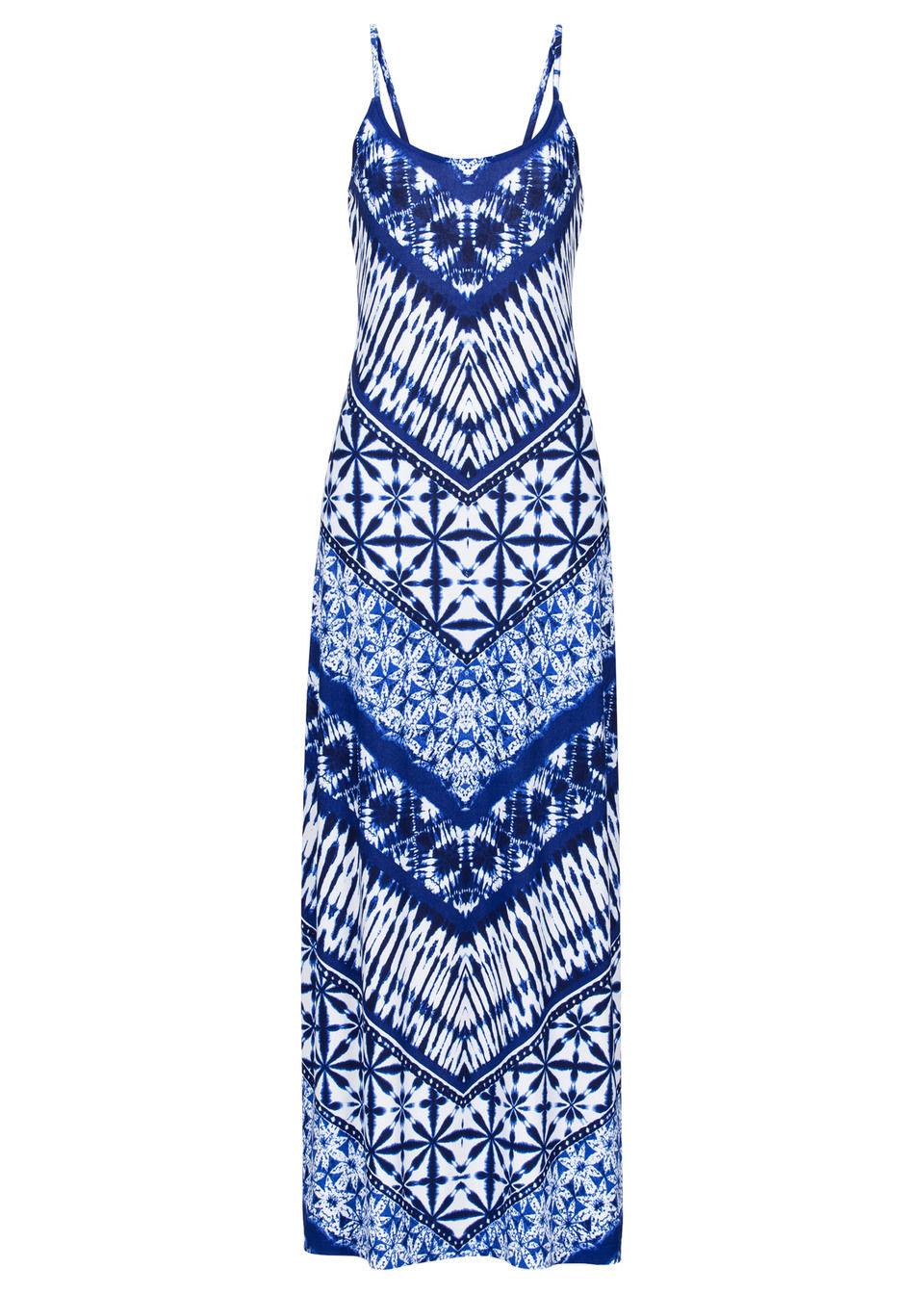 Купить Макси-платье с принтом, bonprix, синий/различные расцветки