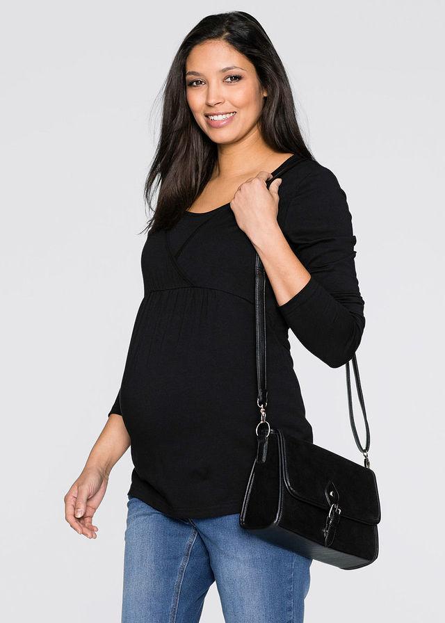 Szoptatós kismama póló fekete Praktikus • 5499.0 Ft • bonprix bb8df4a0b1