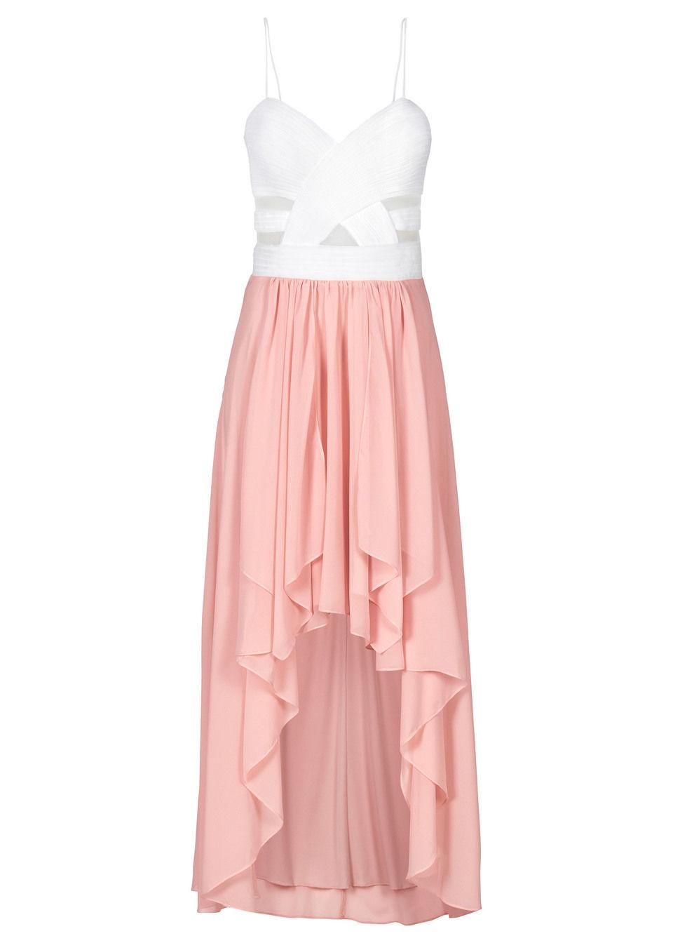 Асимметричное платье с сердцеобразным вырезом