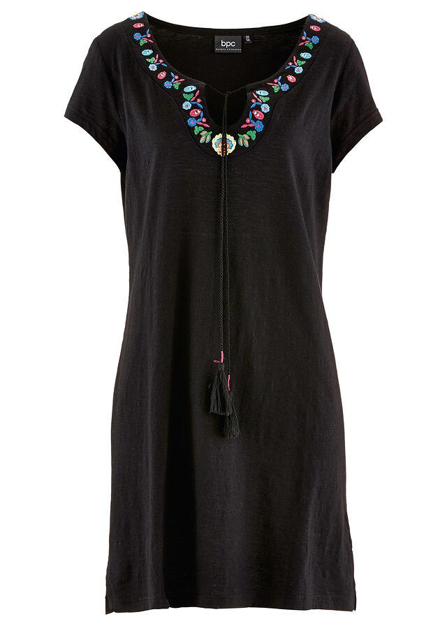 a425d3992 Úpletové šaty z vypaľovaného vlákna čierna • 11.99 € • bonprix
