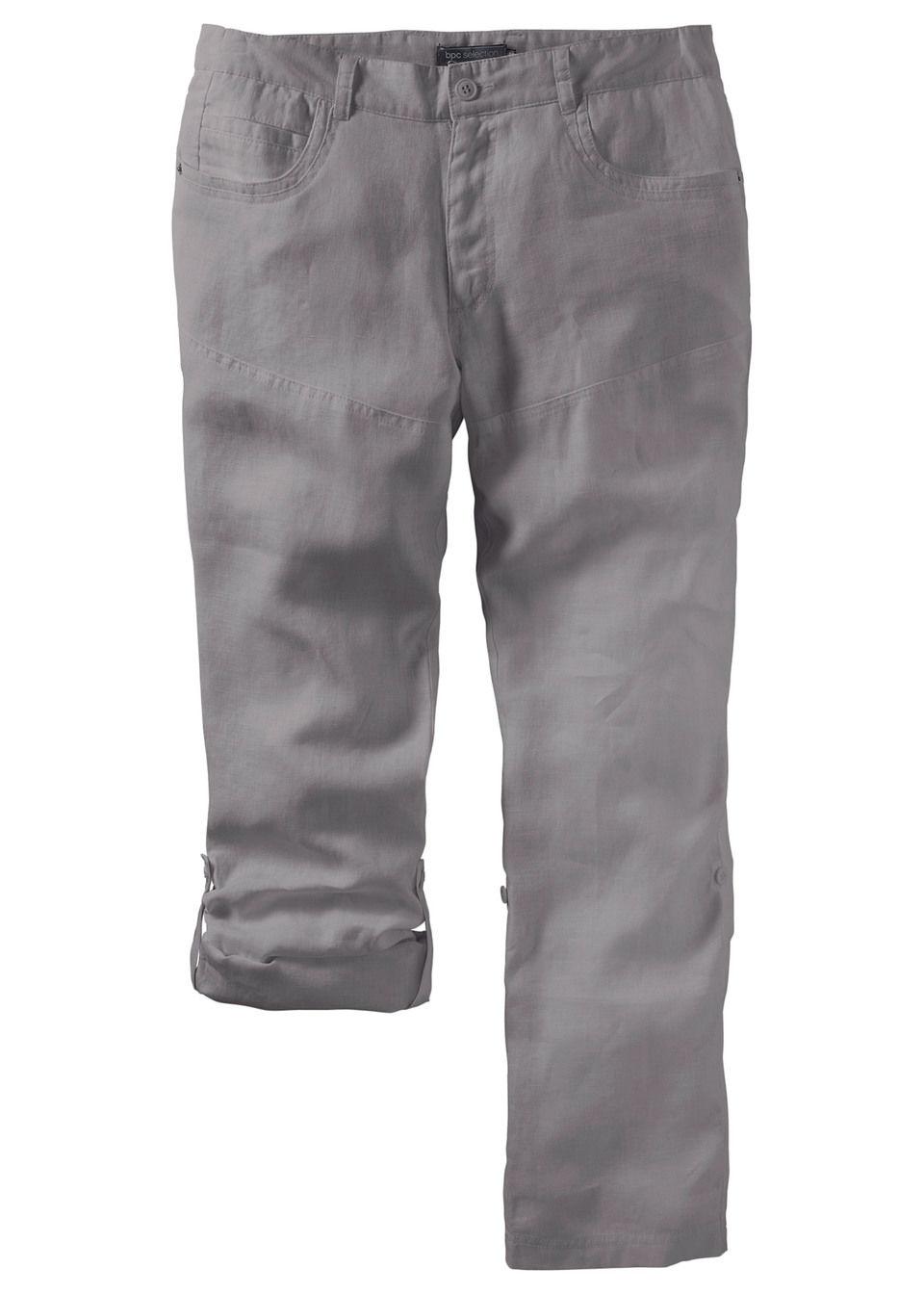 Pantaloni din in Regular Fit bonprix