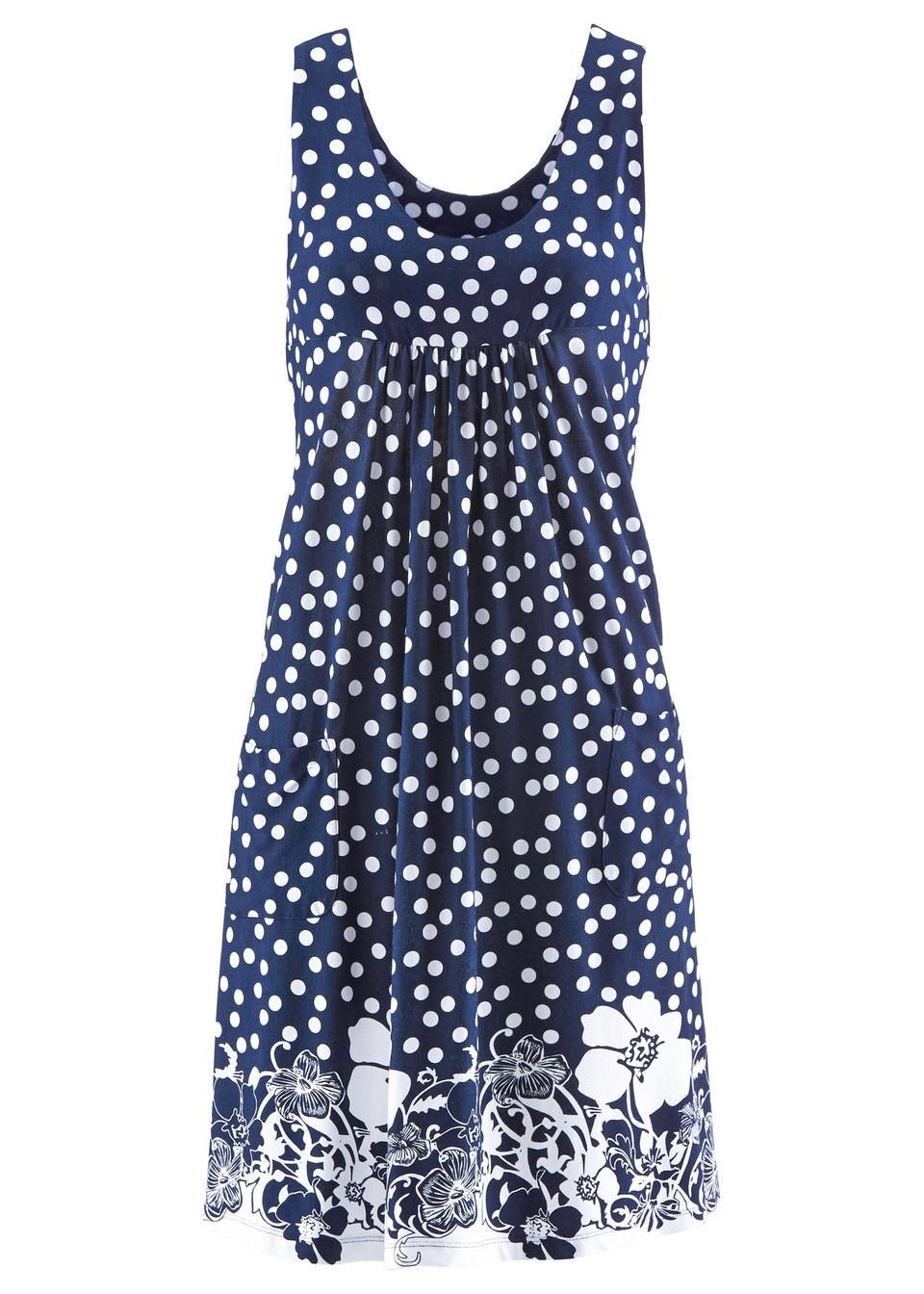Платье трикотажное без рукавов от bonprix