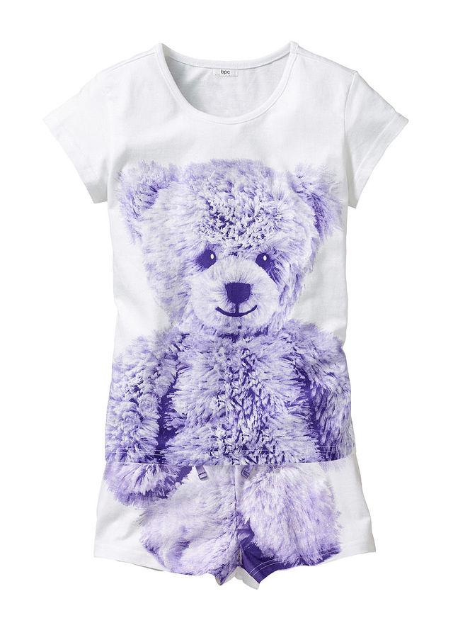 Rövidnadrágos pizsama (2-részes) fehér mintás • 2799.0 Ft • bonprix 1fab499bd1