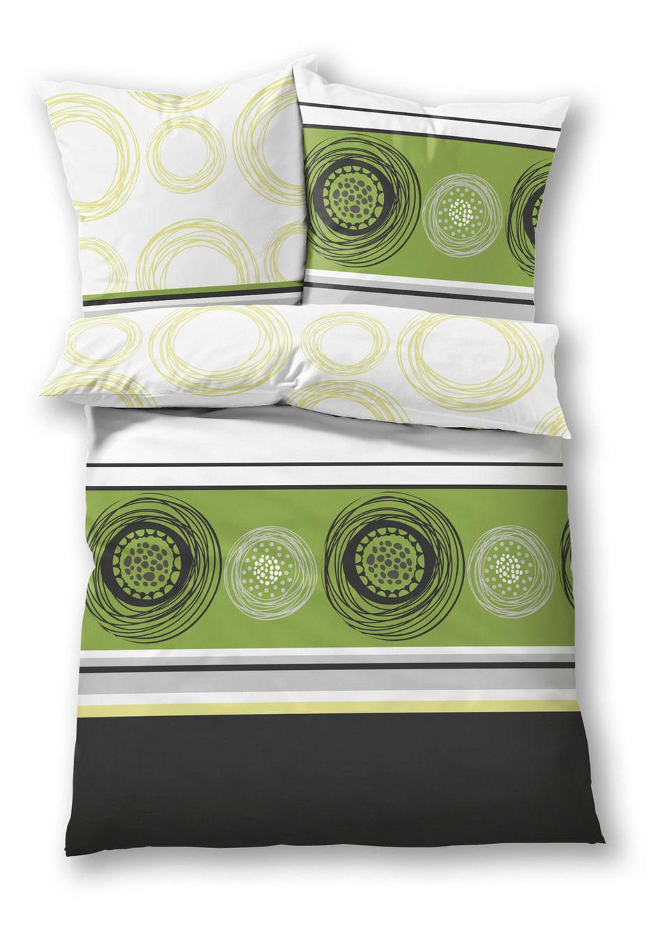 """tekstylia do sypialni pościel """"koła"""" bonprix zielony - bonprix"""