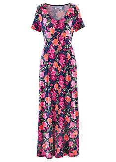 8f3d899b4c1f56 Długa sukienka z krótkim rękawem niebieski w kwiaty • 149.99 zł ...