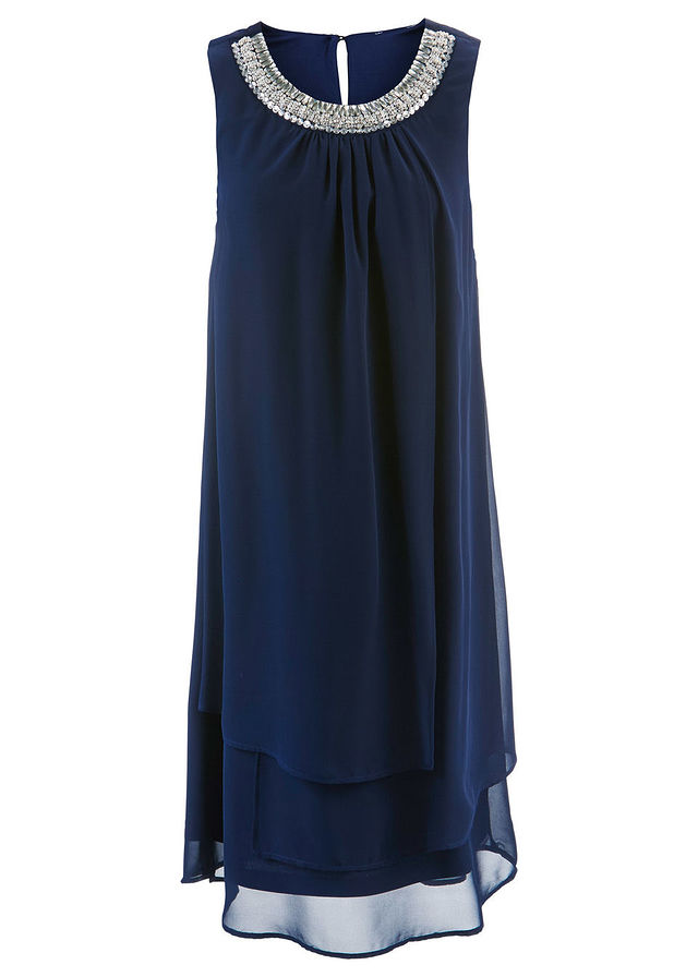34bf6a76b0f2 Premium šaty s aplikáciami tmavomodrá • 47.99 € • bonprix