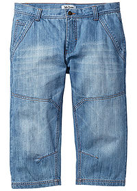 "Dżinsy 3/4 Regular Fit Tapered niebieski ""medium bleached"" John Baner JEANSWEAR 0"