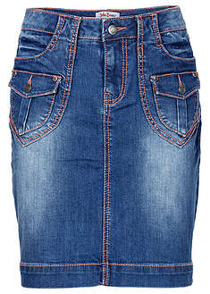 Fustă stretch, denim-autentic-John Baner JEANSWEAR