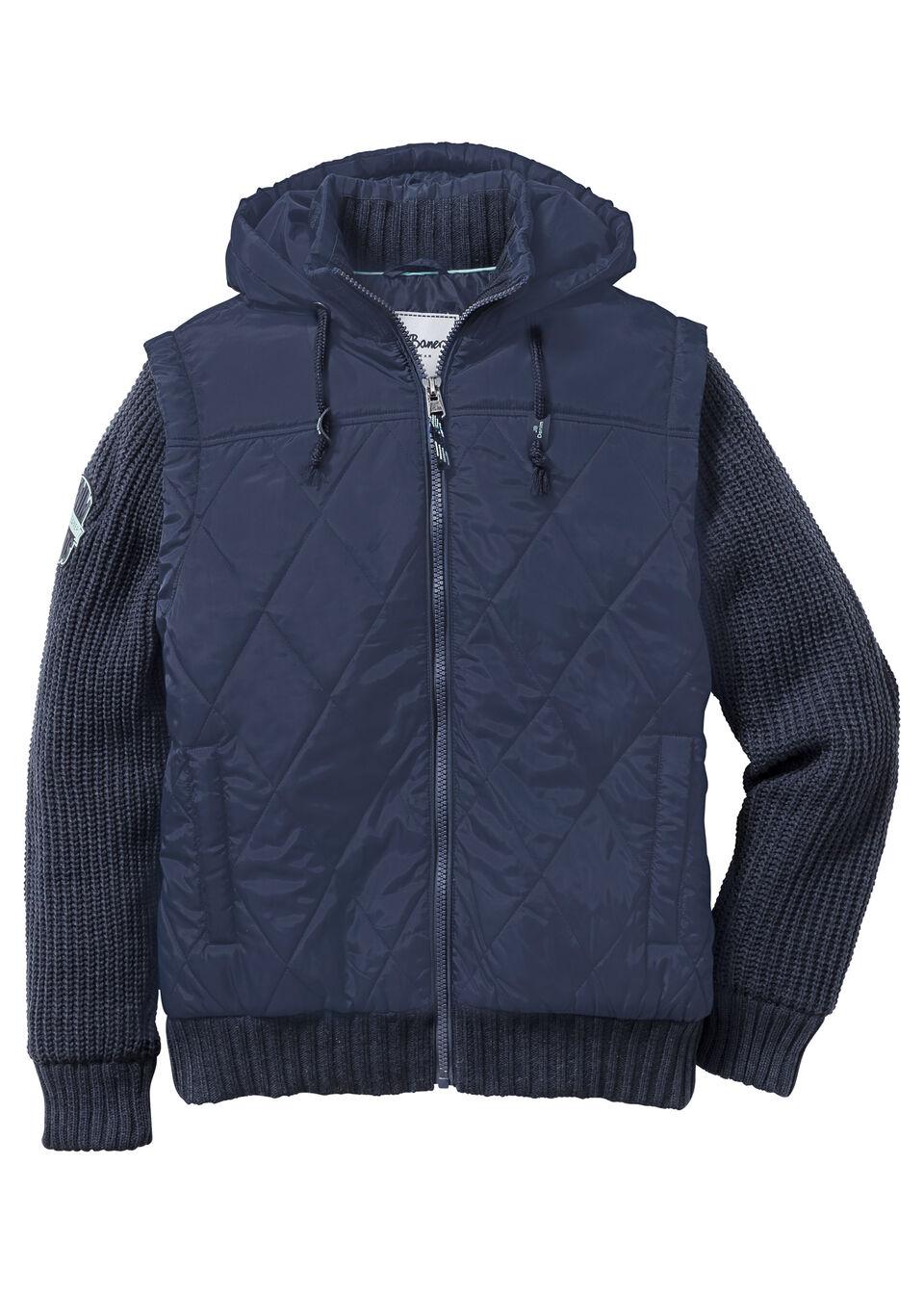Куртка Regular Fit с вязаными рукавами