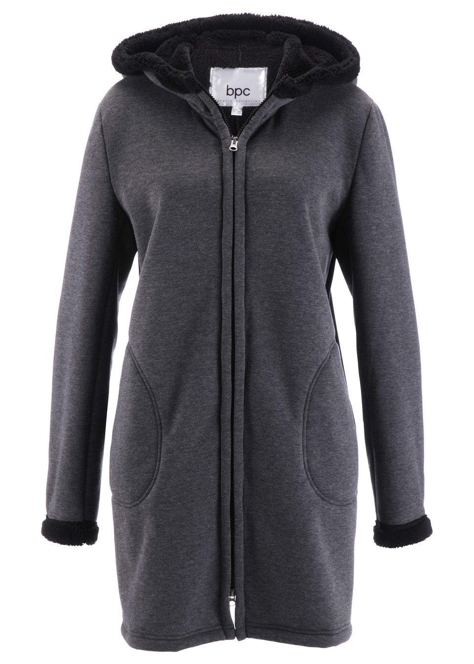 Трикотажная куртка на плюшевой подкладке от bonprix
