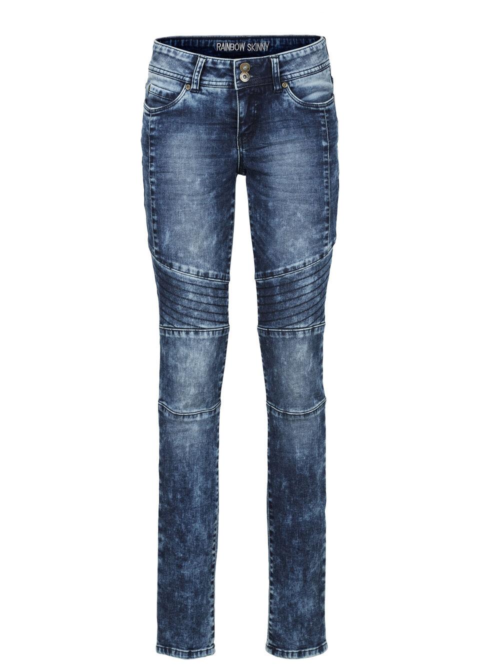 Jeans Skinny, cusături deco bonprix