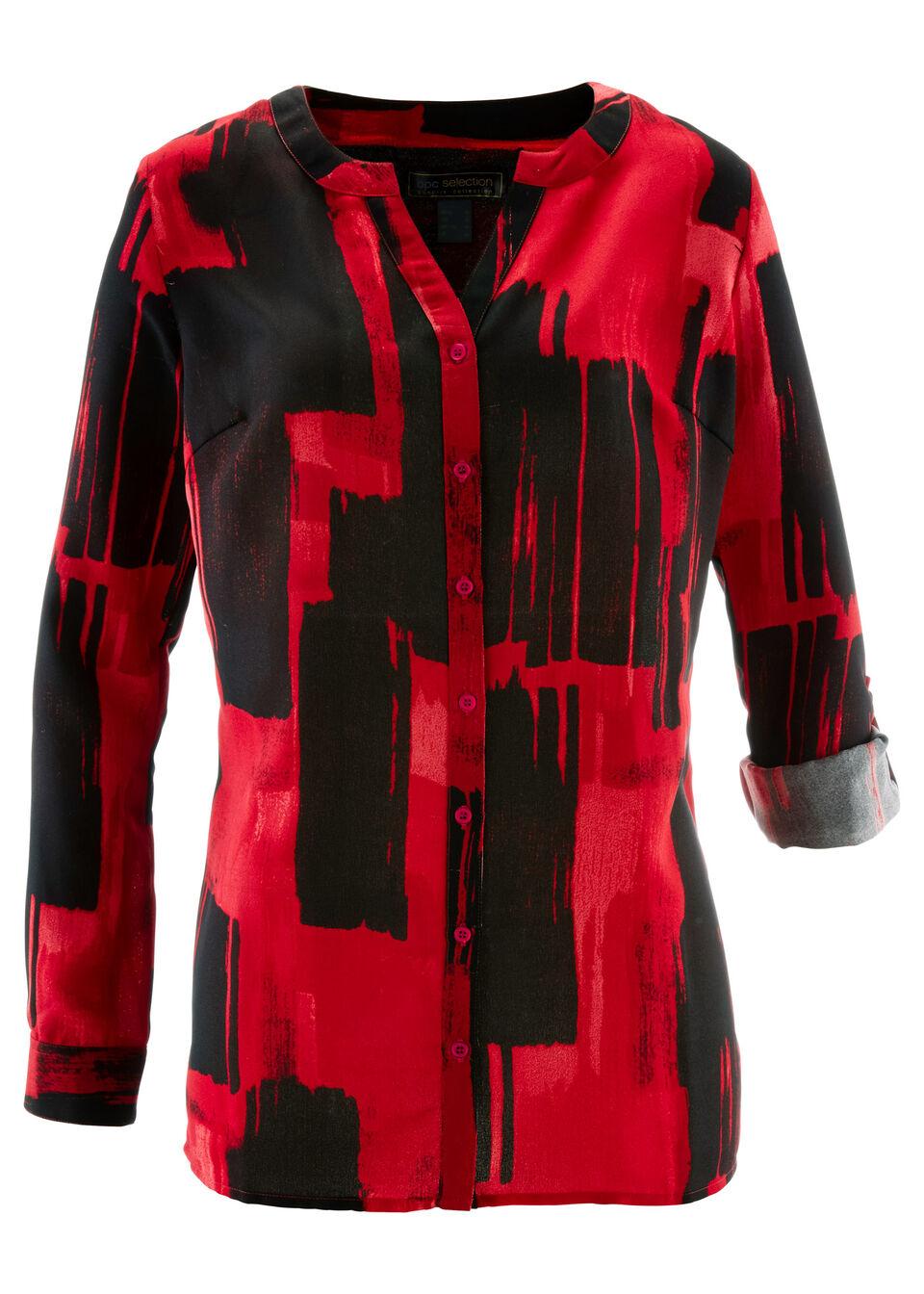 Удлиненная блузка с принтом