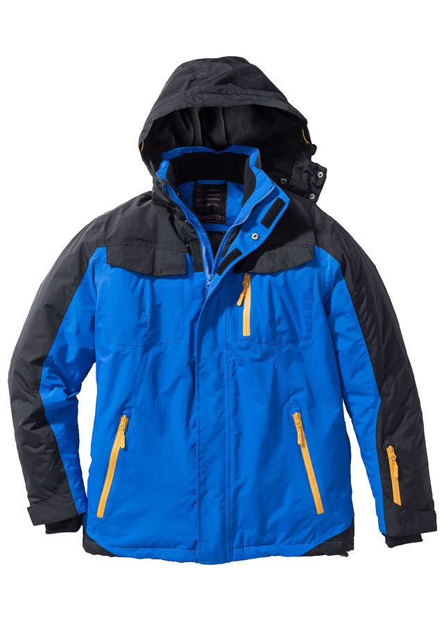 Funkčná zimná bunda Regular Fit azúrovo modrá čierna • 64.99 € • bonprix 80781e1eb7e