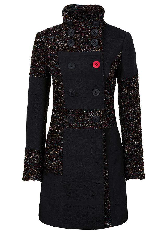Kabát z mixu materiálov a vzorov čierna viacfarebná • 74.99 € • bonprix 3d1028210e8