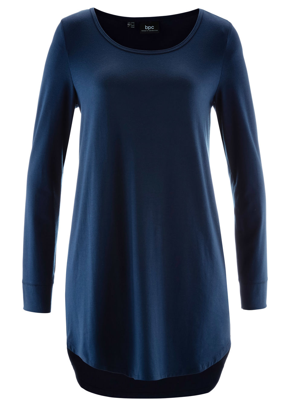 Купить Удлиненная футболка с длинным рукавом, bonprix, темно-синий