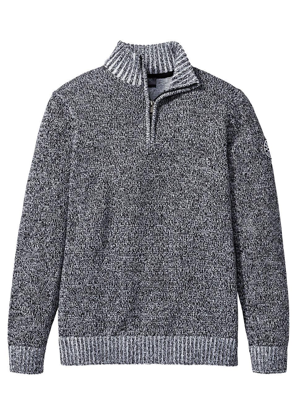 Пуловер с воротником на молнии от bonprix
