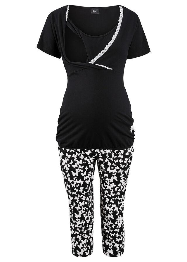 Szoptatós capri pizsama fekete mintás • 5499.0 Ft • bonprix 01d96b373c