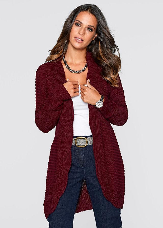 Pletený sveter javorovo červená Voľný • 24.99 € • bonprix 1eb31d21bb3