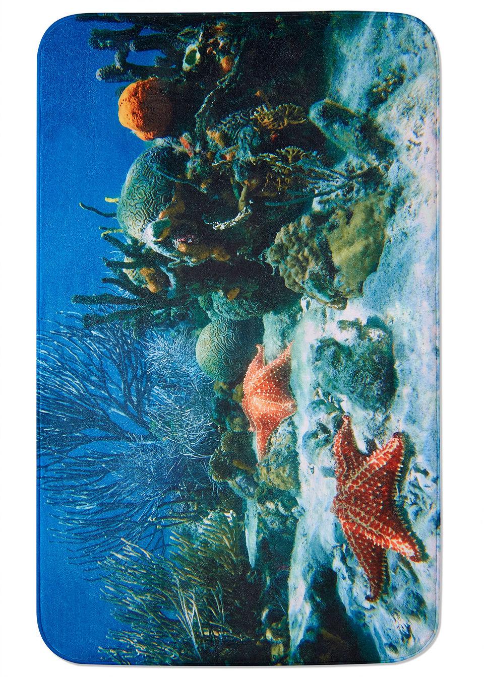 Коврик для ванной «Подводный мир» из пены-мемори