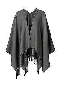 Poncho szary bpc bonprix collection 0