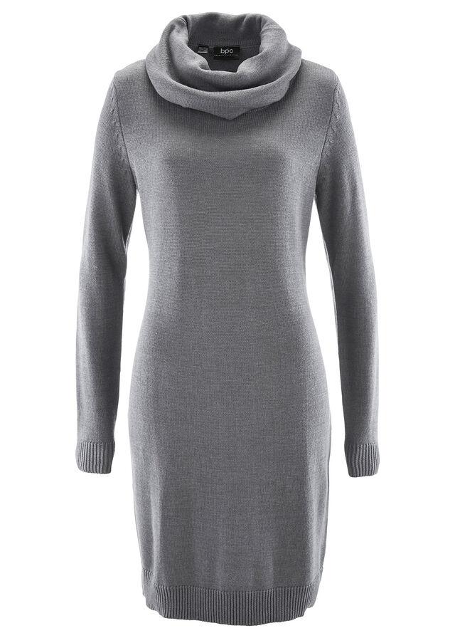 Pletené rolákové šaty sivá melírovaná • 14.99 € • bonprix 23f69a85dc